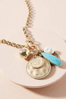 Anthropologie Clustered Charm Necklace