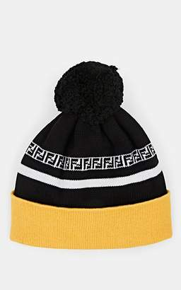 1a3b23c94b4 Fendi Men s Rib-Knit Wool Pom-Pom Beanie - Yellow