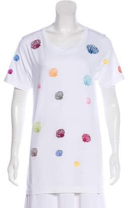 Rosie Assoulin Embroidered Jersey T-Shirt