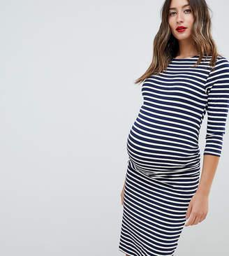 New Look Maternity Stripe Side Detail Dress