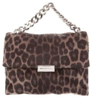 Stella McCartney Becks Leopard Alter Pony Shoulder Bag