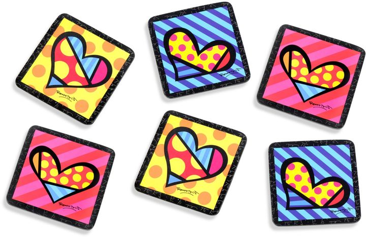 Bed Bath & Beyond Britto™ by Giftcraft Heart 4-Inch Cork Coasters (Set of 6)