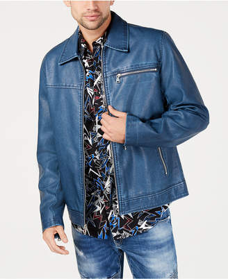 INC International Concepts I.n.c. Men Distressed Faux Leather Jacket
