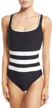 Gottex Regatta Striped One-Piece Swimsuit $168 thestylecure.com