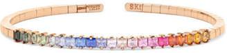 Suzanne Kalan Rainbow 18-karat Rose Gold Sapphire Cuff