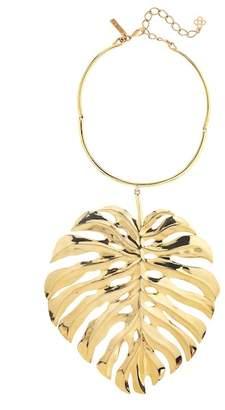 Oscar de la Renta Monstera Leaf Drop Necklace