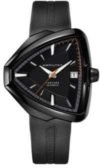 Hamilton Analog Ventura Elvis80 Black Rubber Strap Watch