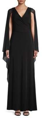 Calvin Klein A-Line Cape Dress