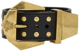 Versace Black Hardware Buckle Bracelet
