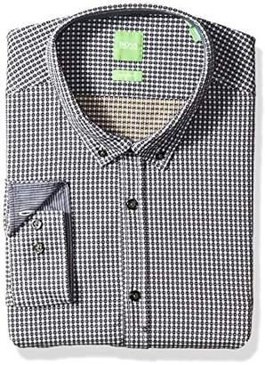 HUGO BOSS BOSS Green Men's C-Baldasar Vichy Check Button Down Shirt