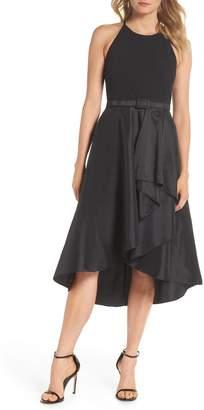 Eliza J Asymmetrical Tea Length Dress