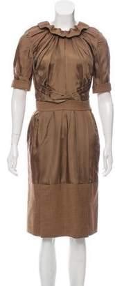 Louis Vuitton Wool Knee-Length Dress