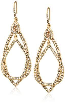 ABS by Allen Schwartz Pave Orbitals Drop Earrings