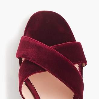 J.Crew Velvet Penny sandals