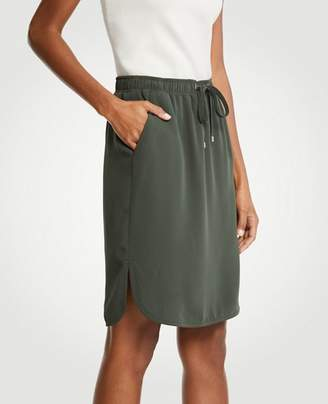 Ann Taylor Petite Drawstring Jogger Skirt