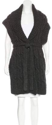 Maison Margiela Wool Sleeveless Cardigan