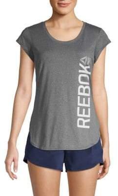 Reebok Short-Sleeve Logo Top