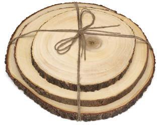 Lipper 3 Piece Acacia Tree Bark Board Set