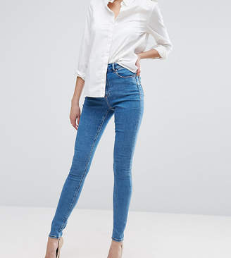 Asos Tall DESIGN Tall Ridley high waist skinny jeans in light wash