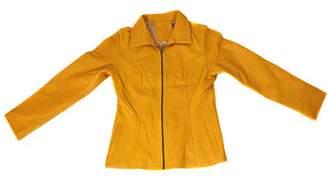 World Traveler Women's Gold Leather Jacket