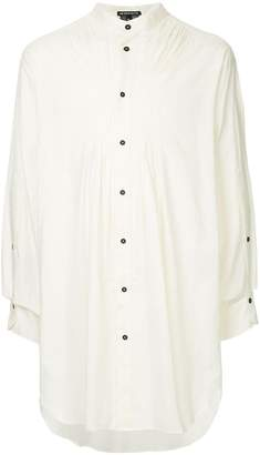 Ann Demeulemeester oversized band collar shirt