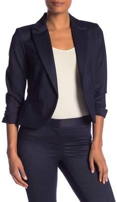 Amanda & Chelsea Ponte Knit 3/4 Length Sleeve Rouched Blazer