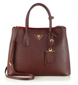Prada Saffiano Cuir Small Double Bag $2,780 thestylecure.com