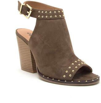 Qupid Womens Barnes-230cx Bootie Stacked Heel Buckle