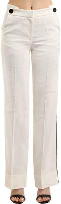 Petar Petrov High Waist Linen Blend Pants