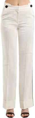 Petar Petrov High Waist Linen Blend Pants