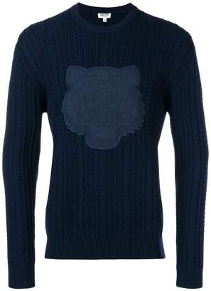Kenzo tiger cable knit jumper