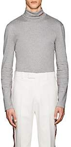 Calvin Klein Men's Logo Cotton Turtleneck T-Shirt - Light Gray