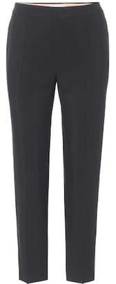 Chloé Cropped crêpe trousers