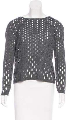 Milly Open Knit Long Sleeve Top