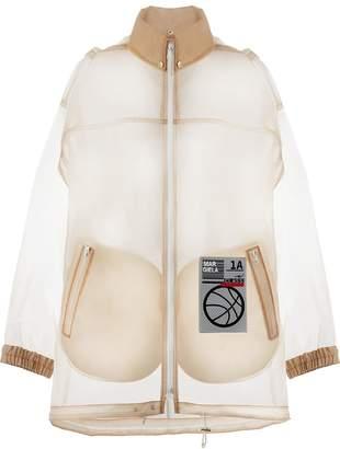 Maison Margiela logo-patch zipped raincoat