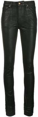 Saint Laurent leather-look skinny jeans