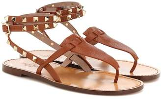 Valentino Rockstud Double leather sandals