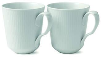 Royal Copenhagen White Fluted Mug Pair