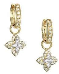 Jude Frances Pavé Diamond& 18K Yellow Gold Flower Earring Charms