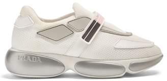 Prada Cloudbust Low Top Mesh Trainers - Womens - Pink White