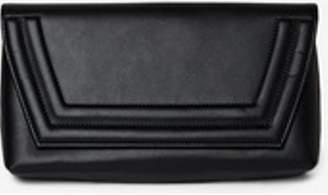 Dorothy Perkins Womens Black Envelope Panel Clutch Bag
