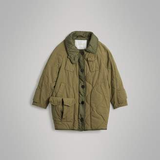 Burberry Military Quilted Cotton Coat
