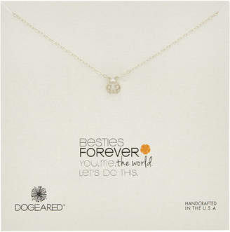 Dogeared Make A Wish Silver Ladybug Necklace