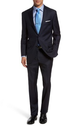Men's Peter Millar Flynn Classic Fit Check Wool Suit $795 thestylecure.com