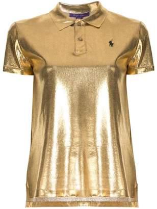 Ralph Lauren metallic polo shirt