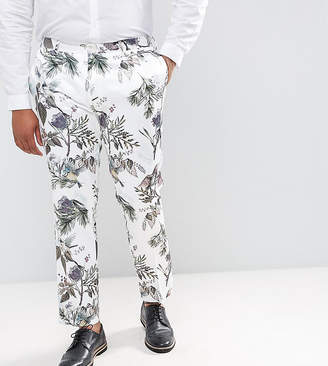 Asos Plus Wedding Skinny Smart Pants In Pastel Floral Print