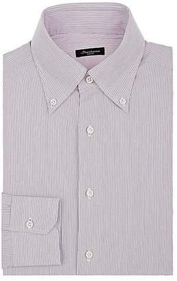 Sartorio Men's Pinstriped Cotton Button-Down Dress Shirt - Red
