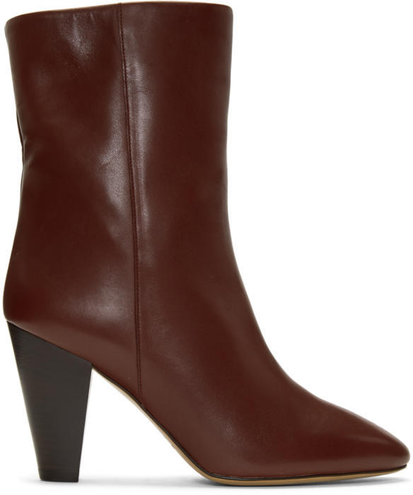 Isabel Marant Burgundy Darilay Boots