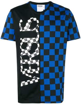 Versus contrast checkered T-shirt