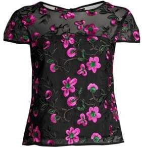 Milly Floral Embroidered Top